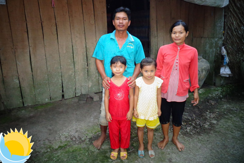 One of the families to whom we donated a new house
